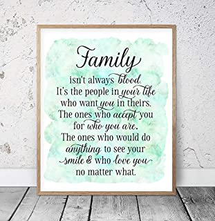 family isn t always blood plaque