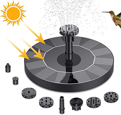 lowest Solar Fountain for Birdbath Outdoor Small Solar Water Fountain Free Standing Floating Solar Water Pump with Nozzles Solar Floating Fountain Pump for Bird discount Bath, Decoration, outlet online sale 5In (A) outlet sale
