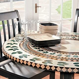 FAXADELLA Mosaic Table Cover 48 Tile Table Cover - Mosaic Table Top - Mosaic Table Cover 36 - Elasticized Mosaic Table Cover. Extreme Durability, Backed by A