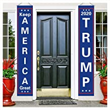 KTCLCATF USA Election Patriotic Trump 2020 Keep America Great Flag,Outdoor Burlap Garden Flag Decoration Banner for Yard Lawn Kit 12 x 72 inch
