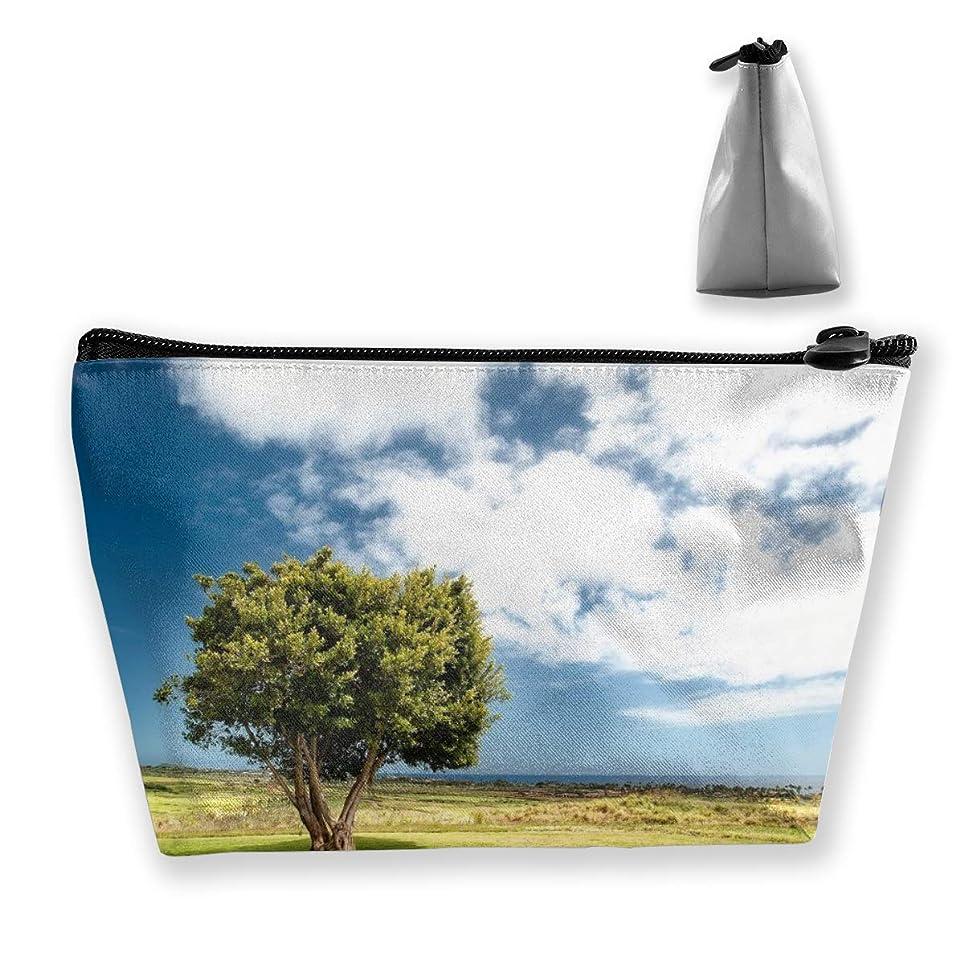 中で決定する神経障害Szsgqkj 田園風景 化粧品袋の携帯用旅行構造の袋の洗面用品の主催者