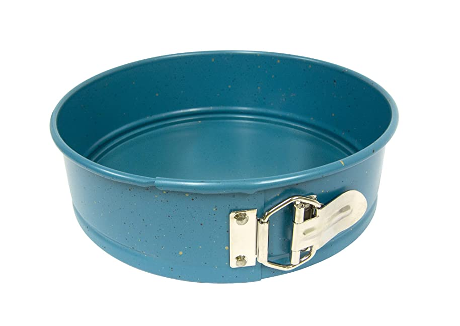 casaWare 9-inch Springform Pan Ceramic Coated NonStick (Blue Granite)