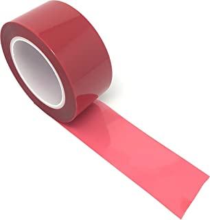 APT, (2'' X 72 Yds, Red), 2 Mil Polyester Tape with Silicone Adhesive, high Temperature Tape, 3.5 mil Thickness, Powder Coating, E-Coating, Anodizing, high Temp Masking.(2inch) (2 inch)