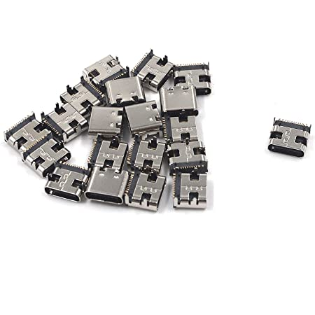 240pcs Micro USB Type B Female 5Pin Socket Jack Connector Charging Soldering