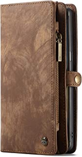 Phone Case for Samsung Galaxy Note 9, Wallet Leather Magnetic Smart Flip Cover Brown