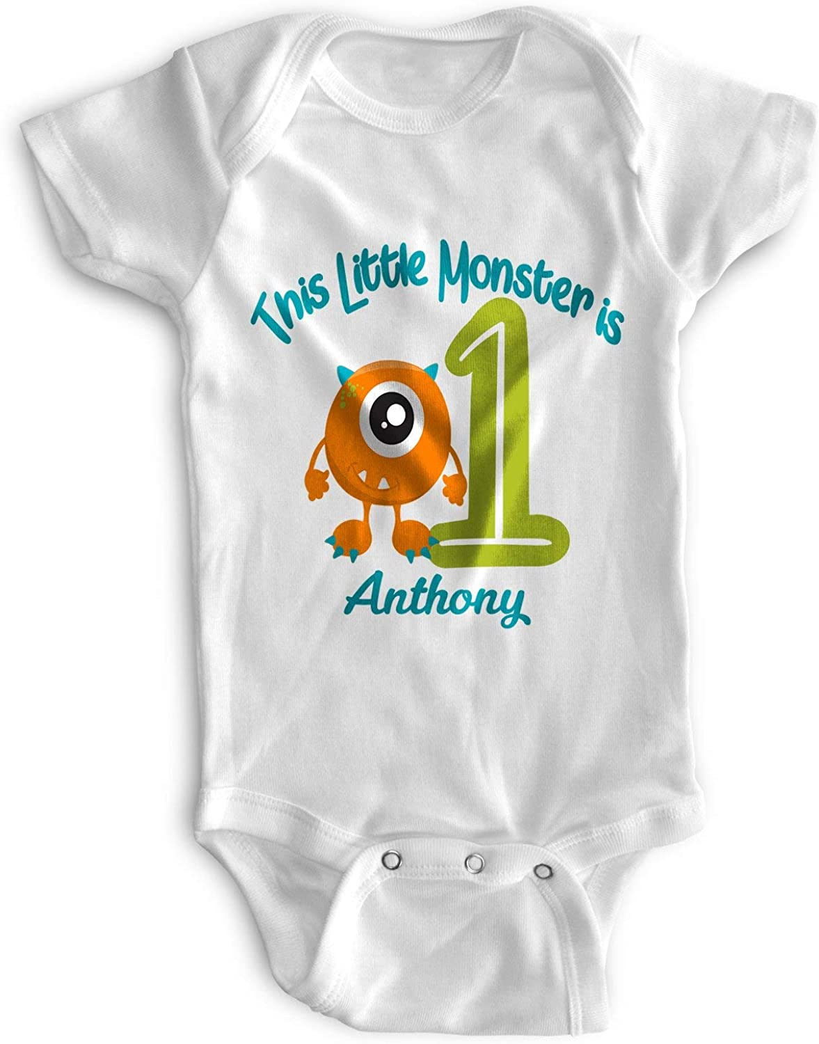 First Birthday Outfit 1st Baby Bodysuit Personalized Boy New products Sales results No. 1 world's highest quality popular