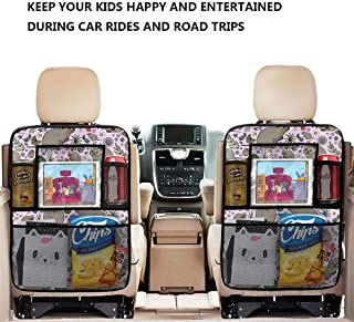 ASDD Quokka Party Car Backseat Organizer with,4 Storage Pockets Back Seat Organizer for Travel Accessories (2 Pack)