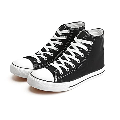 ZGR Womens Canvas Sneakers High Top Lace ups Casual Walking Shoes