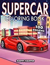 Sponsored Ad - Supercar Coloring Book: The Super Cool Sports Car Coloring Book For Kids Featuring 40+ Fun Exotic Luxury Ca...
