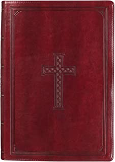 KJV Holy Bible, Super Giant Print Bible, Burgundy Faux Leather Bible w/Thumb Index and Ribbon Marker, Red Letter Edition, King James Version