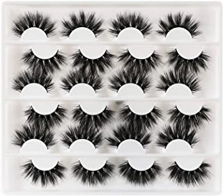 Newcally False Eyelashes Long Dramatic Faux Mink Lashes 12 Pairs