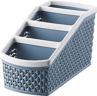 ZQO Panier de Rangement Boîte de Rangement en Plastique étui de Rangement Multifonctionnel à 4 Compartiments pour Bureau B...