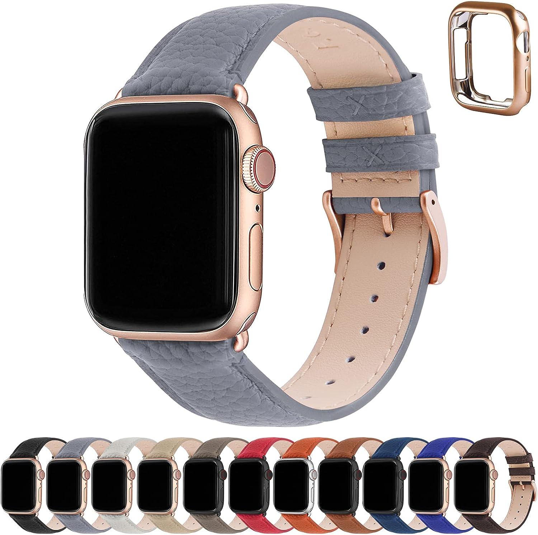 Correa para Apple Watch, Fullmosa Correa de Cuero Compatible con 38 mm 40 mm 41 mm 42 mm 44 mm 45 mm , Apple Watch Band para iWatch Series SE/7/6/5/4/3/2/1