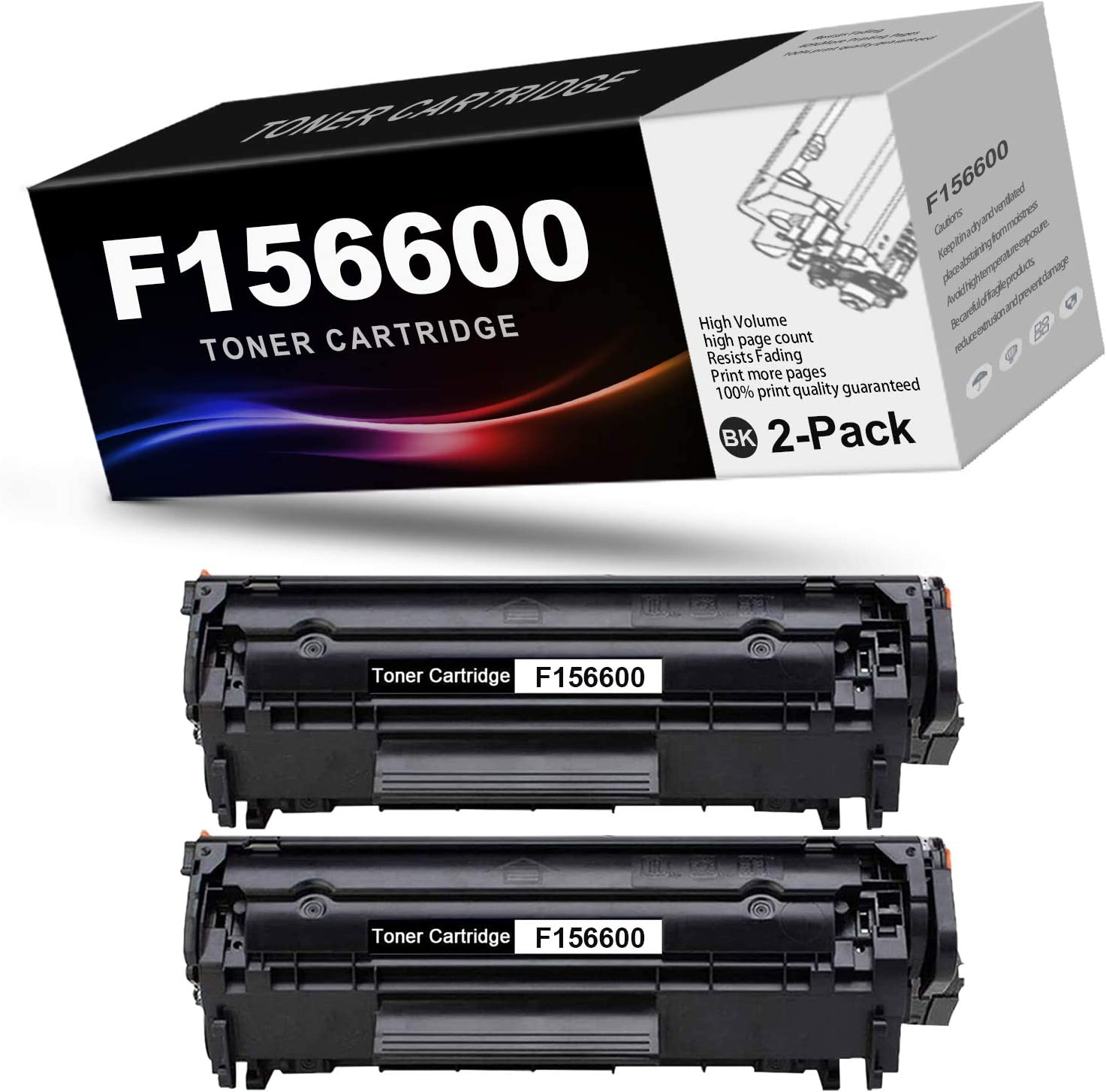 2-Pack Black Compatible F156600 Toner Cartridge Replacement for Canon F156600 Printer Toner Cartridge