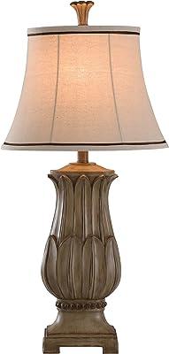 Collective Design L38204DSAM Laurel Bay, Distressed, Beige Table Lamp