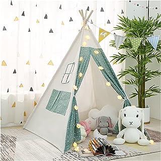 YSJJWDV Teepee tält barn tält lekstuga för barn Tipi hus för baby wigwam spel hus Indien triangel tält prinsessa slott föd...
