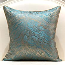 Avigers Square Beige Gold Abstract Striped Embroidery Cushion Case Luxury Modern Throw Pillow Cover Decorative Pillow for ...