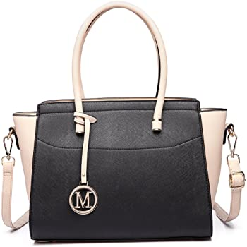 Miss Lulu Grand Sac /à Main /à D/'/épaule Femme en Cuir PU Sac Port/é Main