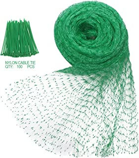 Heqishun 1 Heqi Shun 33Ft x 13Ft Braided Belt 100Pcs Nylon Cable Ties Garde, Green