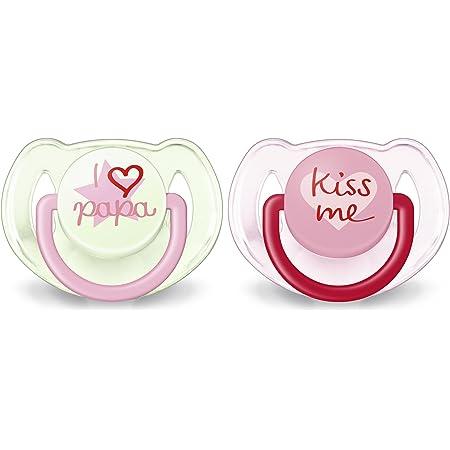 Philips Avent Classic Chupetes Decorados, Para Niños De 6 A 18 Meses Color Rosa Translúcido - Pack de 2