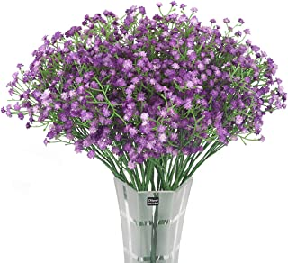 HANTAJANSS 12 pcs Baby Breath Gypsophila Artificial Flowers Bouquets Fake Real Touch..