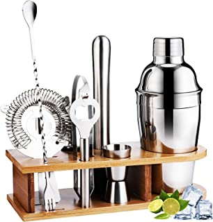 Bartender Kit 10 piece Bar Accessories with Stylish...