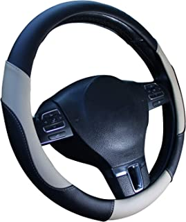 Circle Cool Micro Fiber Leather Car Steering Wheel Covers, Universal 15 inch, Anti Slip Odorless , Breathable Cooling