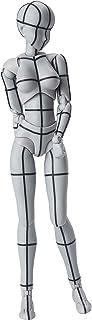 S.H.フィギュアーツ ボディちゃん -ワイヤーフレーム- (Gray Color Ver.) 約135mm PVC&ABS製 塗装済み可動フィギュア