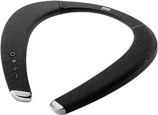 サンワダイレクト ネックスピーカー Bluetooth5.0 低遅延 apt-X LL対応 防水IPX5 連続11時間再生 軽量175g 通話対応 400-SP090