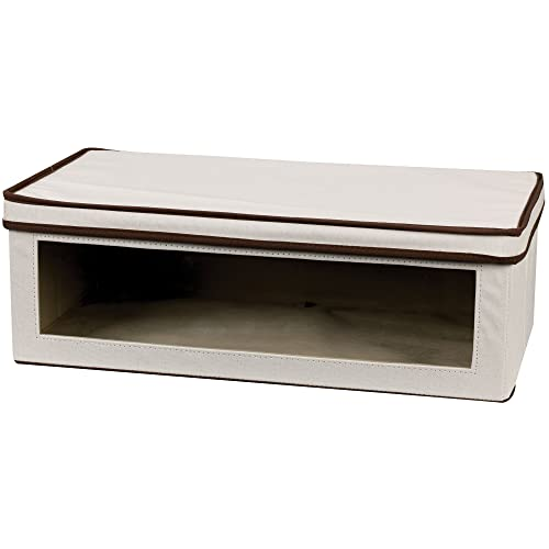 Closet Handle and Window for Home Bedroom Office TWELSEAVAN Foldable Fabric Storage Cube Bin Cloth Storage Box Basket with Lid