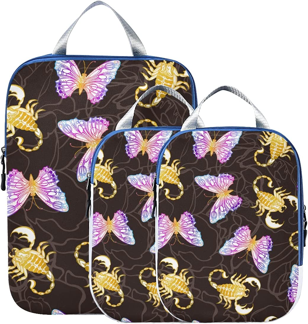 Packing Bags Atlanta Mall Evil Scorpion E Manufacturer OFFicial shop Organizers Travel Bufferfly