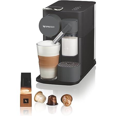 De'Longhi Lattissima One Evo, Machine à café en capsules à usage unique, mousseur de lait automatique, cappuccino et lait, EN510.B, 1450W, Noir
