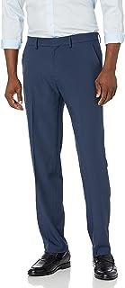 Haggar mens Active Series Performance Straight Fit Flat Front Dress Pant Dress Pants