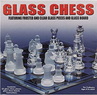 chess glass pieces and glass board large size