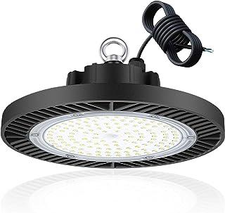 LEDMO 100W Projecteur LED UFO High Bay Light 14000LM IP65 Projecteur Exterieur Blanc Froid 6000K-6500K Plafonnier éclairag...