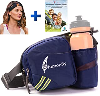 Shimonfly Hiking Waist Pack - Waterproof Fanny Pack with Water Bottle Holder and Pockets for Large Smartphones - Waist Bag for Women and Men