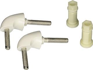 Bemis 7BHK84 000 Toilet Seat Hinge/Hardware Kit, White