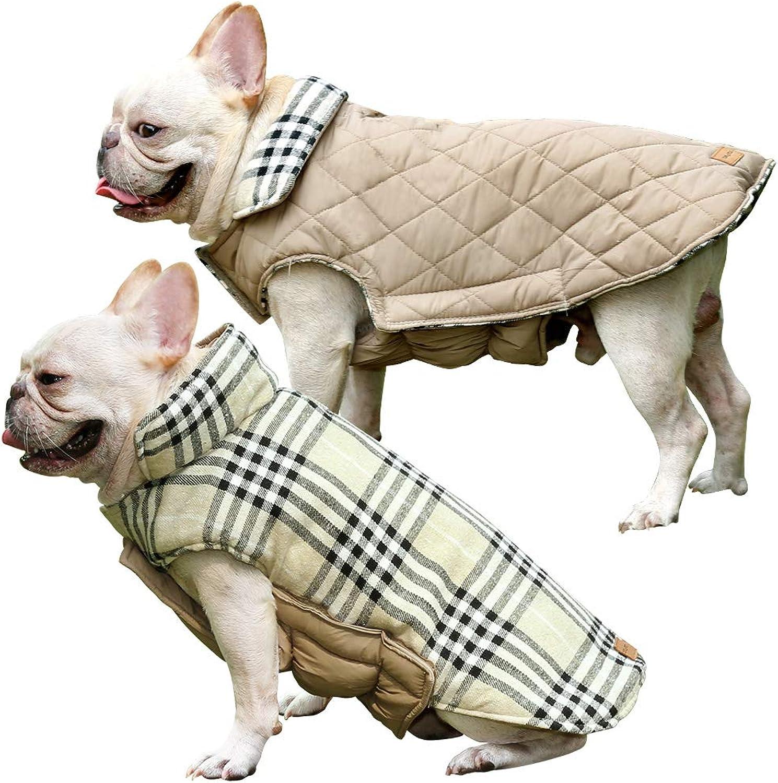 Dog Winter Coat Water Resistente Windsurified Dog Apparel per il tempo freddo per piccolo a grande Breed (XL Beige)