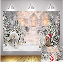 Portrait Snowflake White Background Photo Booth Accessories Pine Tree Avezano 7x5ft Winter Christmas Backdrop for Photography Birthday Baby Shower Party Decorations