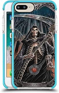 Official Anne Stokes Final Verdict Tribal Blue Shockproof Gel Bumper Case for iPhone 7 Plus/iPhone 8 Plus