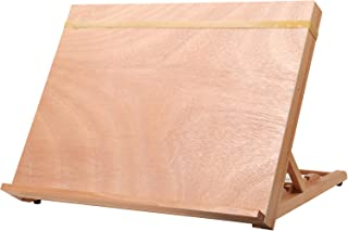 Art Drawing Board- Portable & Adjustable Solid Beech Wood Sketching Board- ATWORTH Wood Desktop/Tabletop Easel for Drawing on Location, in Class, or at Work, 18½