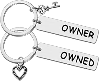 Owner & Owned Gift Keychain Valentines Day Presents Gifts for Boyfriend Husband Couple Keychains Set BDSM Gifts Keychain D...