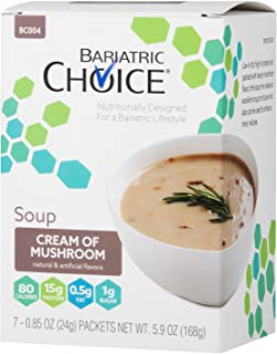 Bariatric Choice High Protein Soup Mix / Low-Carb Diet Soup – Cream of Mushroom (7..