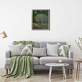 La Pastiche KL2172-FR-68780520X24 Apple Tree I with Champagne Silhouette Framed Hand Painted Oil Reproduction, 26.4