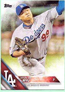 Hyun-Jin Ryu 2016 Topps #293 - Los Angeles Dodgers