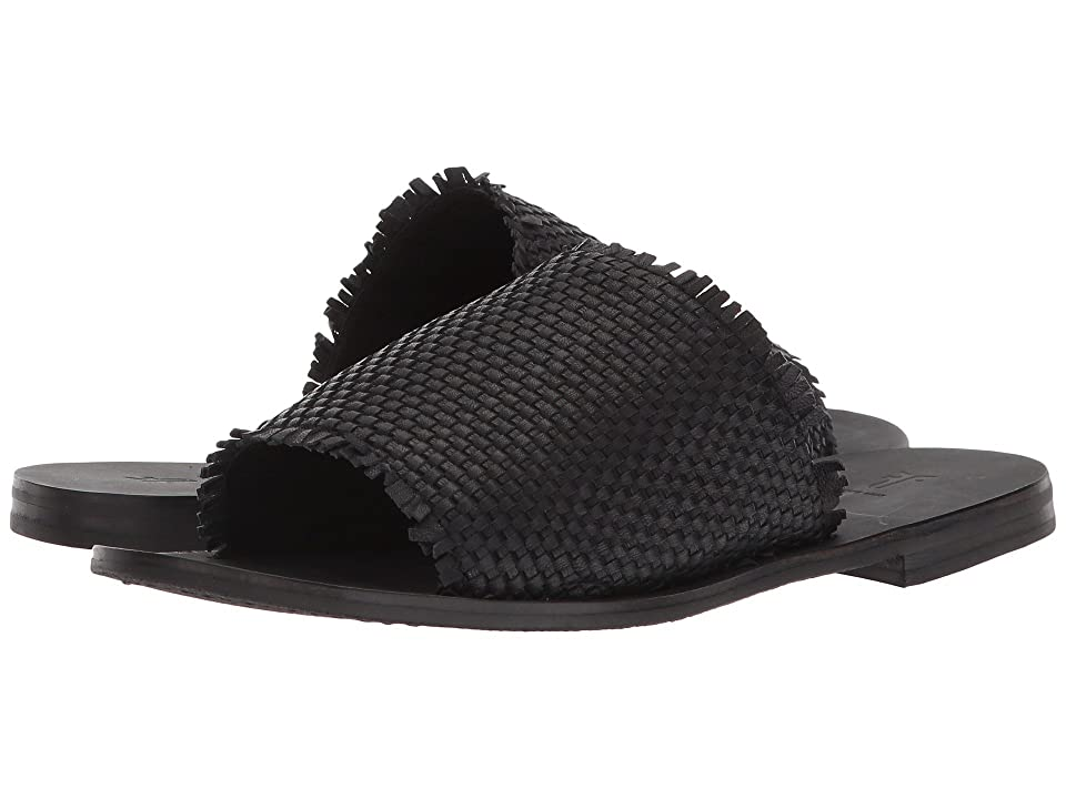 Frye Riley Woven Slide (Black) Women