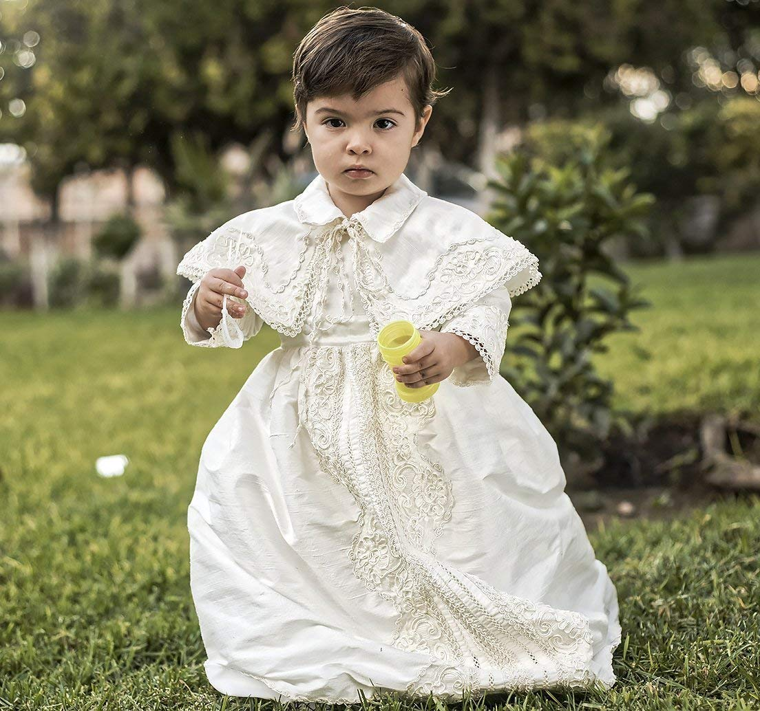 Vintage baptismal gown for Limited price sale Max 42% OFF boys Model an Detachable B008 skirt