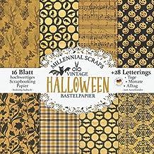 Vintage Halloween Bastelpapier: Scrapbooking Papier & Zubehör I Motivpapier zum Ausschneiden I Mit Letterings I Junk Journ...