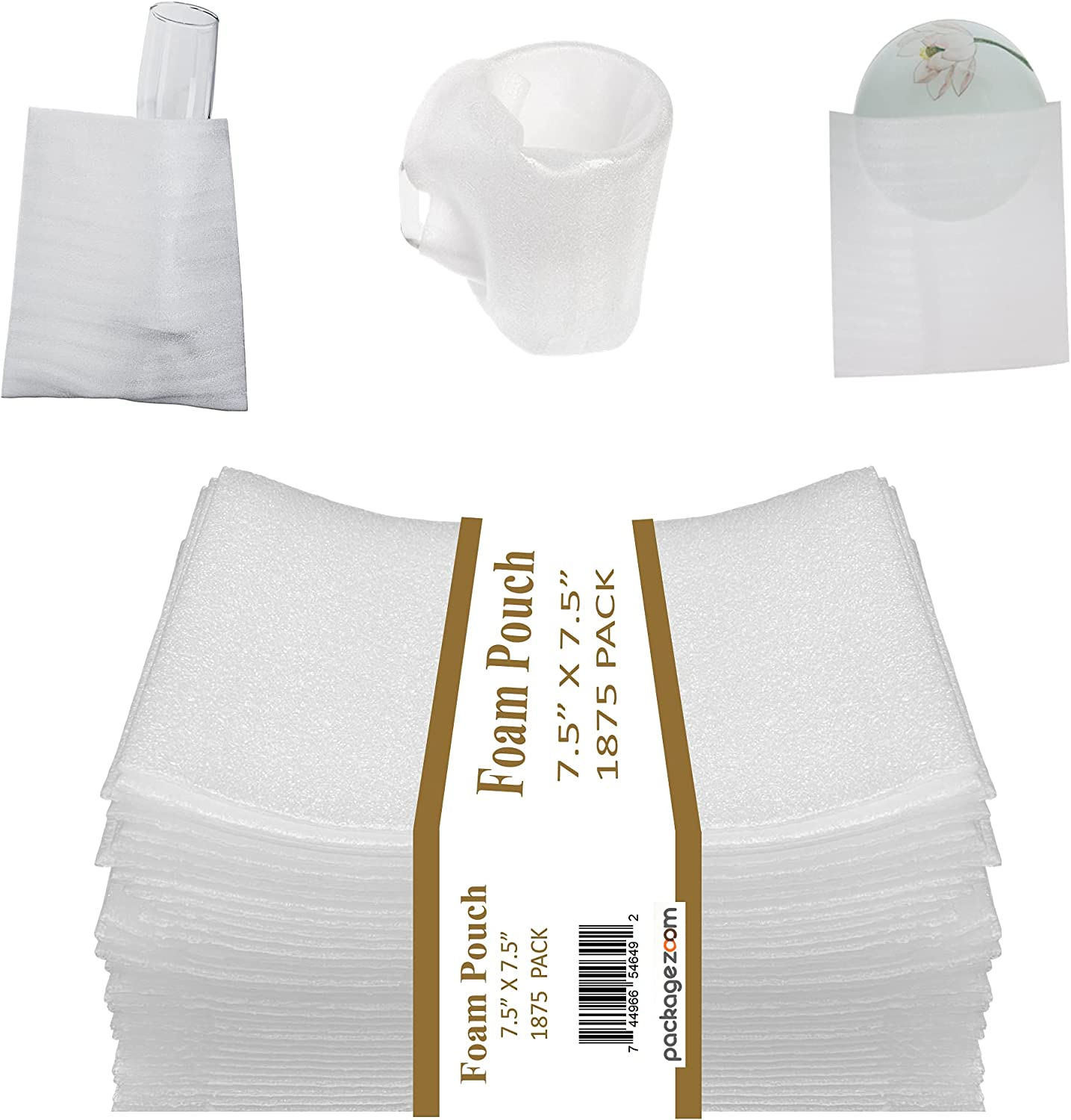 """San Diego Mall PackageZoom Foam Wrap Gifts Pouches 7.5""""x7.5"""" 1875 Pa -"""