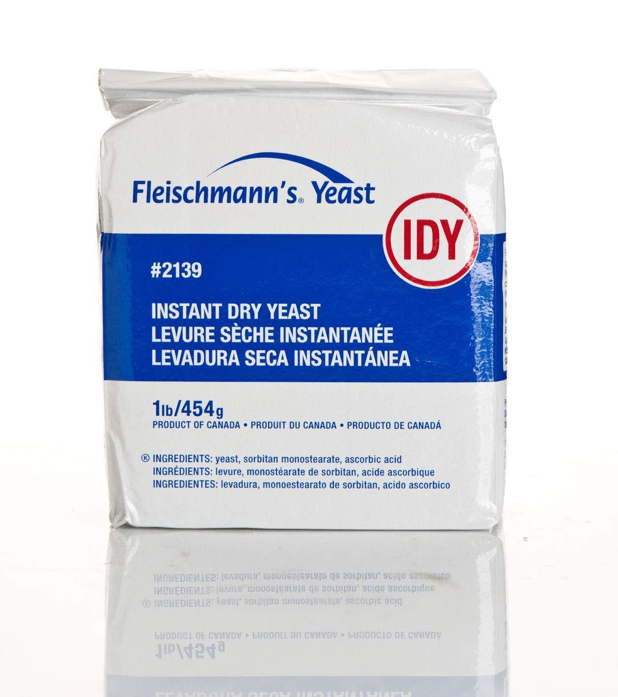 Discount mail order Fleischmann's Instant Dry Yeast Ranking TOP1 Vacuum 1 Lb Pack 4